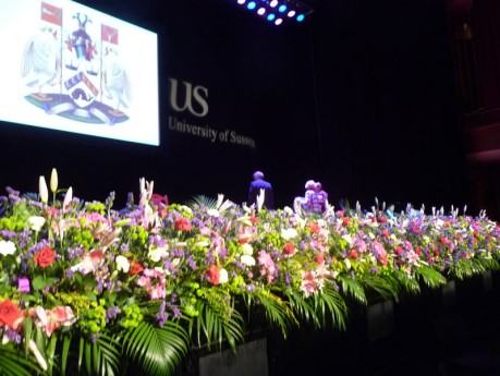 Flowers for University of Sussex award ceremonies